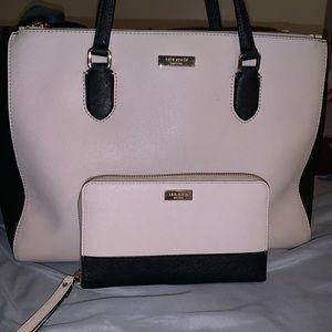 Kate Spade Handbag with matchup wristlet
